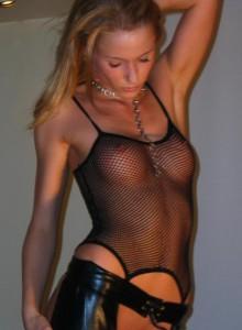 catsuite leder sexy amateur foto