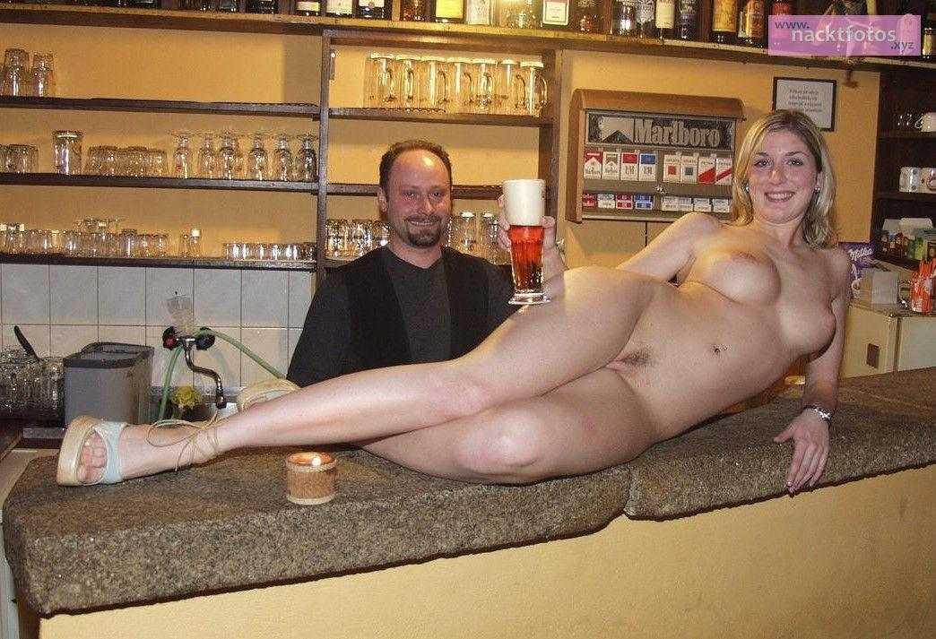 A barmaid to be nailed right in the bar 8