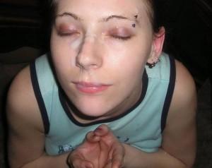 augenbrauen piercing sperma im gesicht freundin privates sex foto