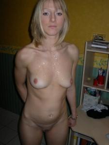 privates amateur foto von meiner frau mit sperma auf den titten