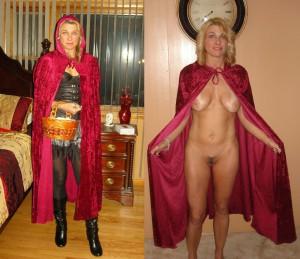 milf als rotkaeppchen verkleidet nackt sexy privates foto