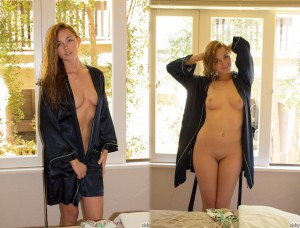 bademantel nackt