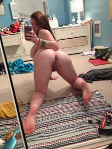 selfie von hinten teen
